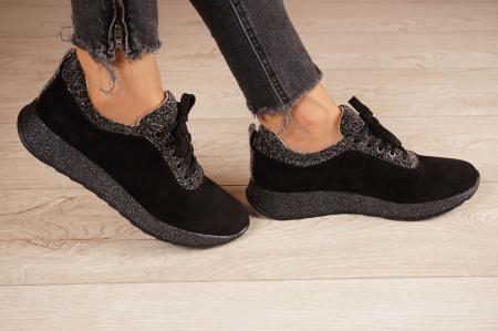 Adidasi dama din camoscio negru MSPD60920-202