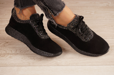 Adidasi dama din camoscio negru MSPD60920-200