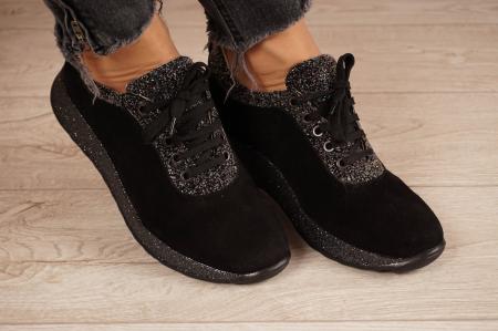 Adidasi dama din camoscio negru MSPD60920-201