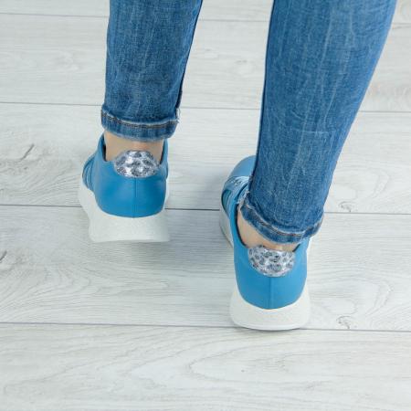Adidasi dama din piele naturala albastra MSPD58719-20 [2]