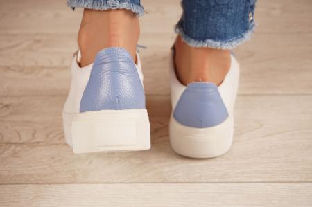 Adidasi dama din piele naturala alba MSPD61520-204