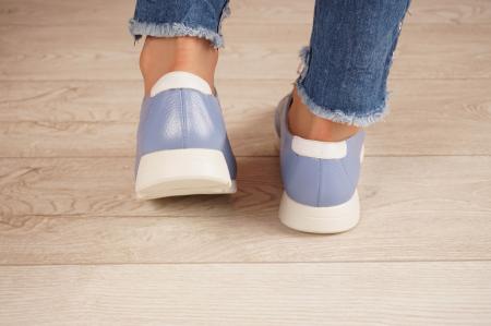 Adidasi dama din piele naturala albastra MSPD58520-204