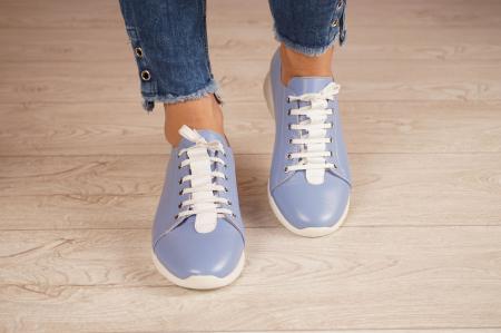 Adidasi dama din piele naturala albastra MSPD58520-203