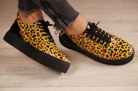 Adidasi dama din piele naturala cu imprimeu leopard MSPD56620-1-21 [1]