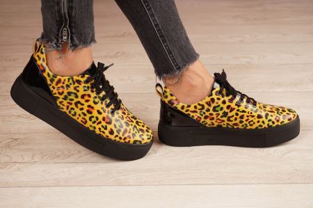 Adidasi dama din piele naturala cu imprimeu leopard MSPD56620-1-21 [2]