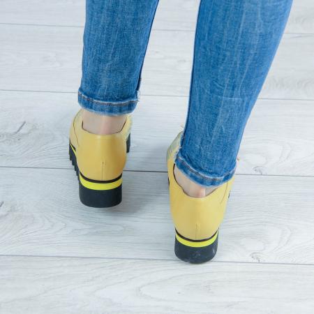 Pantofi dama din piele naturala cu imprimeu MSPD52520-2-202