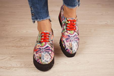 Pantofi dama din piele naturala cu imprimeu MSPD53017-18-203