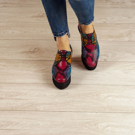 Pantofi dama din piele naturala cu imprimeu MSPD53017-2-20 [2]