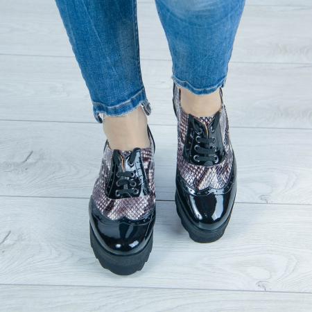 Pantofi dama din piele naturala cu imprimeu MSPD57218-1-201