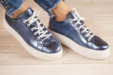 Adidasi dama din piele naturala albastru electric MSPD50621-21 [0]