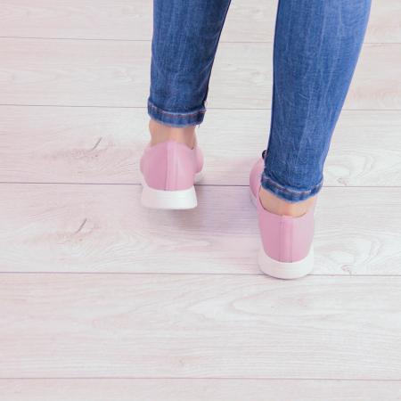 Adidasi dama din piele naturala roz pudra MSPD53620-2-20 [2]