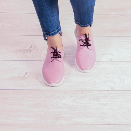 Adidasi dama din piele naturala roz pudra MSPD53620-2-20 [1]