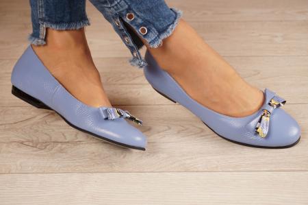 Balerini dama din piele naturala albastra MSPD58720-20 [1]