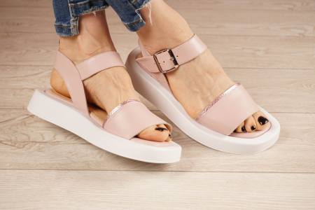 Sandale din piele naturala roz pudra MSSD3021-21 [0]