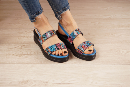 Sandale din piele naturala cu imprimeu MSSD7020-21 [0]