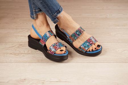 Sandale din piele naturala cu imprimeu MSSD7020-21 [1]