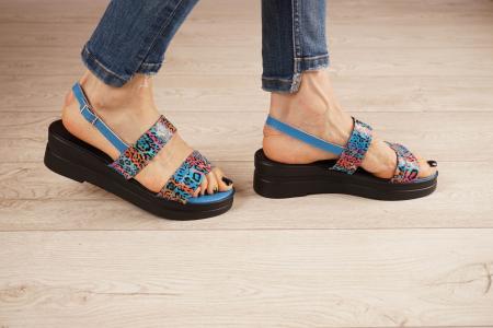 Sandale din piele naturala cu imprimeu MSSD7020-21 [2]