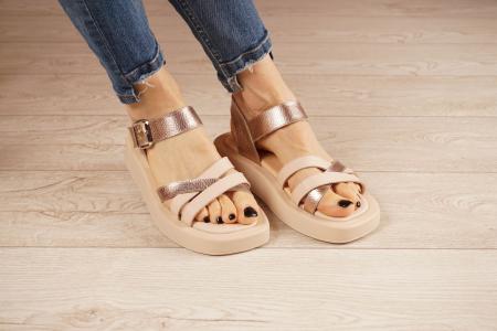 Sandale din piele naturala pe un fundal nude MSSD3421-21 [1]