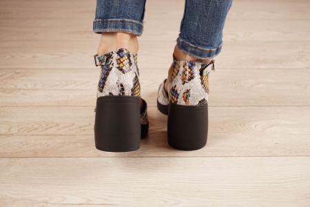 Sandale din piele naturala cu imprimeu MSSD2821-21 [4]