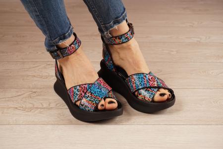 Sandale din piele naturala cu imprimeu MSSD2621-21 [1]