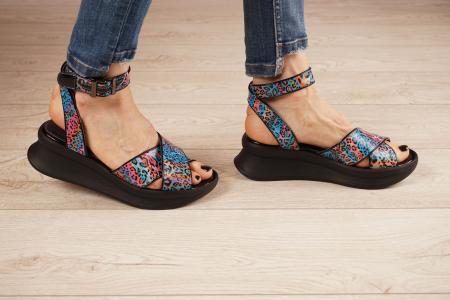 Sandale din piele naturala cu imprimeu MSSD2621-21 [2]