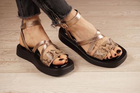 Sandale din piele naturala cu imprimeu MSSD3321-1-21 [1]