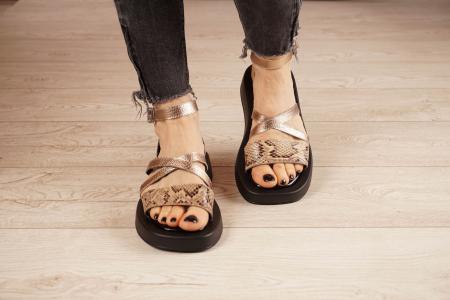 Sandale din piele naturala cu imprimeu MSSD3321-1-21 [3]