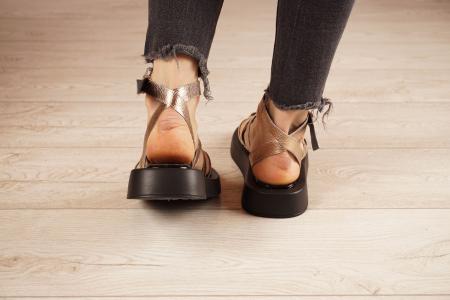 Sandale din piele naturala cu imprimeu MSSD3321-1-21 [4]