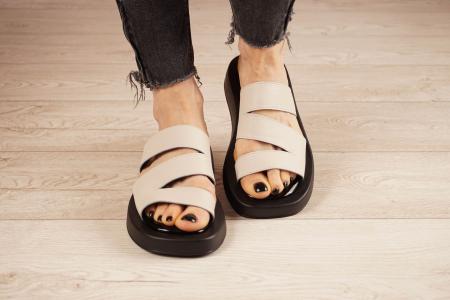 Papuci din piele naturala nude MSSD3221-21 [2]