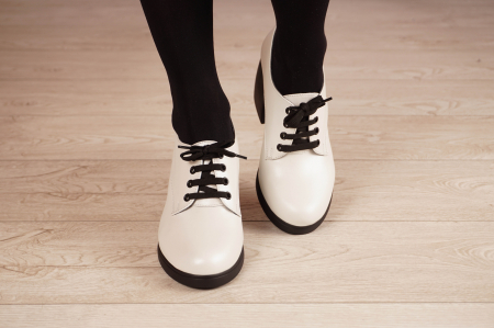Pantofi dama din piele naturala alba MSPD54921-21 [3]