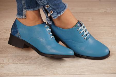 Pantofi dama din piele naturala albastra MSPD52420-1-20 [1]