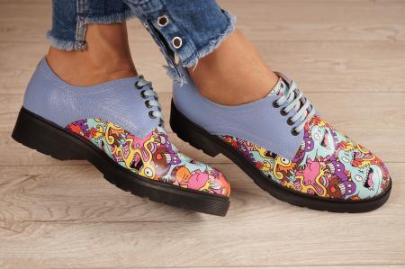 Pantofi dama din piele naturala albastra MSPD53017-8-20 [1]