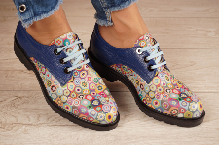 Pantofi dama din piele naturala albastra MSPD56320-2-20 [0]