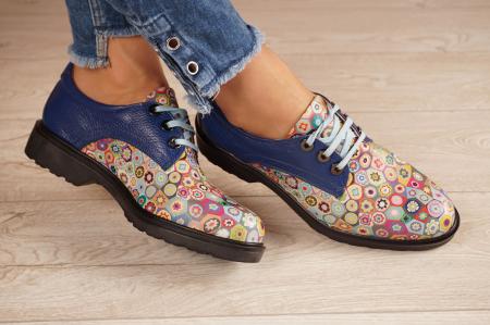 Pantofi dama din piele naturala albastra MSPD56320-2-20 [1]