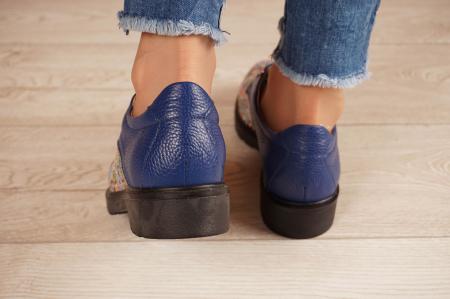 Pantofi dama din piele naturala albastra MSPD56320-2-20 [4]