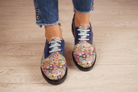 Pantofi dama din piele naturala albastra MSPD56320-2-20 [3]