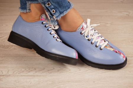 Pantofi dama din piele naturala albastra MSPD61420-201