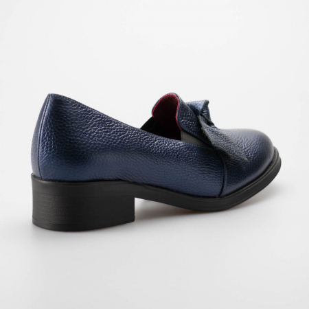 Pantofi dama din piele naturala bizonata bleumaren MSPD57319-1-191