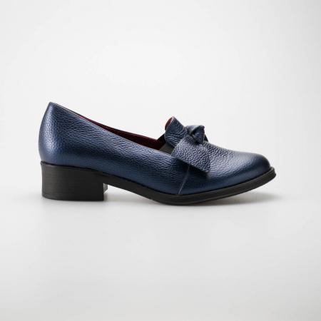 Pantofi dama din piele naturala bizonata bleumaren MSPD57319-1-190