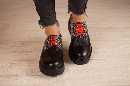 Pantofi dama din piele naturala neagra MSPD53017-17-203