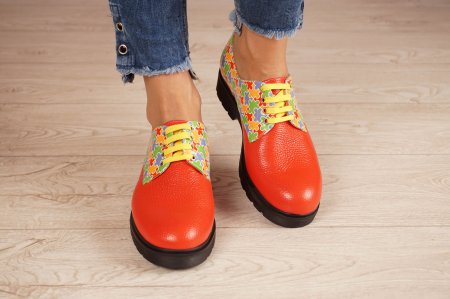 Pantofi dama din piele naturala rosie MSPD53017-14-203