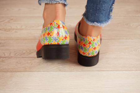 Pantofi dama din piele naturala rosie MSPD53017-14-204