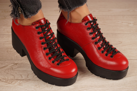 Pantofi dama din piele naturala rosie MSPD58620-20 [1]