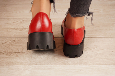 Pantofi dama din piele naturala rosie MSPD59016-4-20 [4]