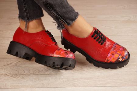 Pantofi dama din piele naturala rosie MSPD59016-4-20 [1]