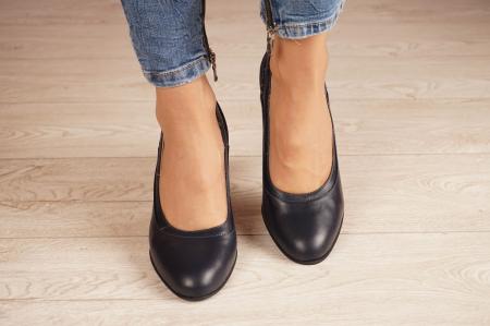 Pantofi dama din piele naturala bleumaren MSPD50520-1-20 [2]