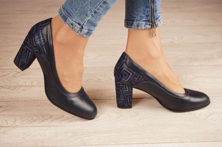 Pantofi dama din piele naturala bleumaren MSPD50520-1-20 [1]