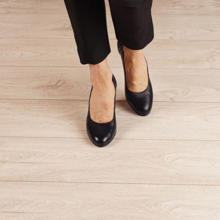 Pantofi dama din piele naturala bleumaren MSPD58119-1-20 [2]