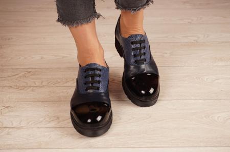 Pantofi dama din piele naturala bleumaren MSPD59820-21 [3]