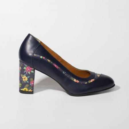 Pantofi dama din piele naturala bleumaren MSPD58019-19 [0]